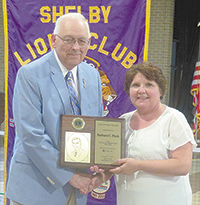 Shelby Lions Club Honors Members