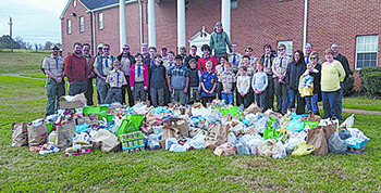 Boy Scout Troop 101 collects 3,443 pounds Benefits Empty Tummy Ministry