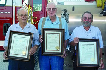 Casar Volunteer Firemen receive honors