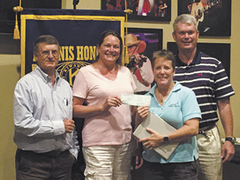 Kiwanis Club makes donation to Hearts and Hooves