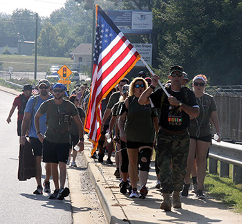 Memorial March honors Major Paula Graham, raises awareness for Veteran and Military sucide rate