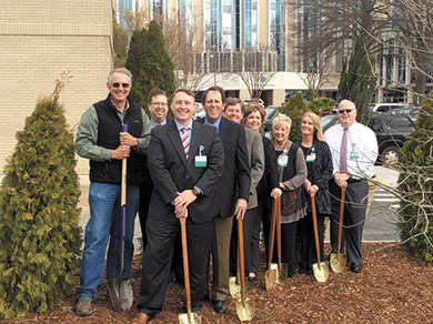 Carolinas HealthCare System celebrates new mission statement with tree planting