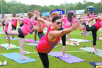 'Yoga in the Outfield' open to all ages, abilities