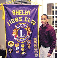 Shelby Lions Club Honors Jaron Webber
