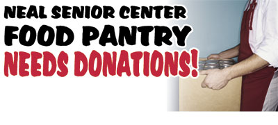 SENIOR CENTER FOOD PANTRY NEEDS...
