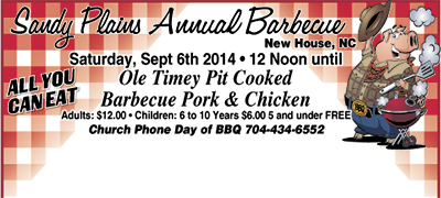 SANDY PLAINS ANNUAL BARBECUE