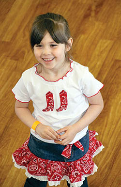 Gracie Fogleman Learns To Square Dance