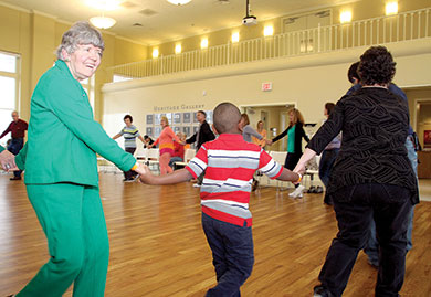 Visitors Enjoy Spring Square Dance at Earl Scruggs Center