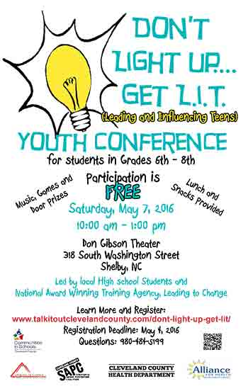 Don't Light Up... Get L.I.T. Youth Conference
