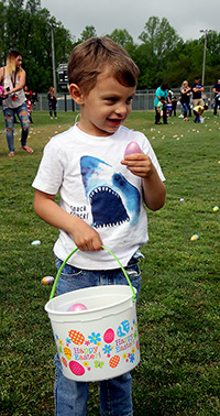 Happy Easter egg hunting at Shelby City Park...