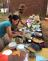 Potluck celebrates community