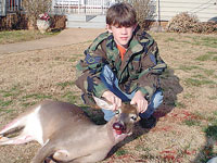 Seth Lanning with his first deer...