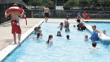 It's A Full Pool For The Kids At City Park...