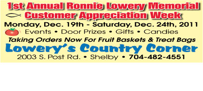 RONNIE LOWERY MEMORIAL CUSTOMER APPRECIATION