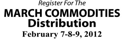 SIGN UP FOR COMMODITIES DISTRIBUTION