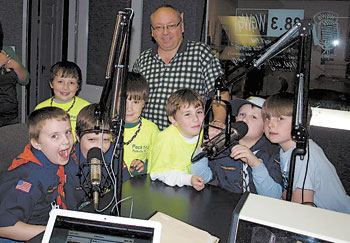 Cub Scouts Polkville Pack 114 Visits WGWG 88.3