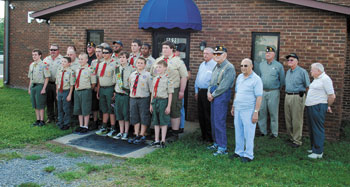 Boy Scout Troop 101 Flag Retirement Ceremony