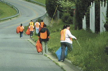 Over 1,300 Pounds of litter picked up by volunteers!