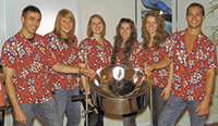 Local students perform with Pan Jive Steel Drum Band