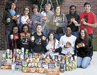 Early College High School students help with VFW Food Drive