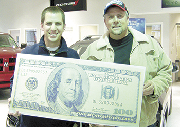 DAVID WHITE WINS $100 IN SHELBY SHOPPER & INFO FOOTBALL CONTEST!