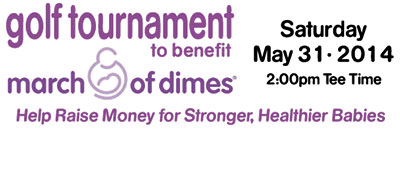 BENEFIT GOLF TOURNAMENT IS MAY 31, 2014
