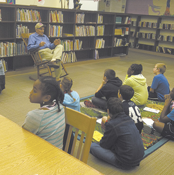 WWII Veteran Visits Students at Jefferson Elementary