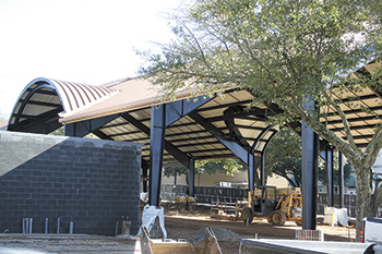 Uptown Shade Pavilion Construction on Schedule