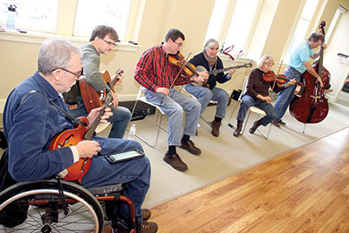Log Cabin String Band performs at the Spring Square Dance