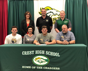 KALE SIGNS WITH WINGATE...