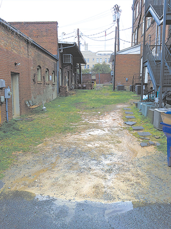 Eagle Scout candidate improves Uptown Shelby Association Alley