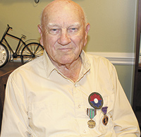 94-year-old Bill Yelton  saw plenty of action in WWII