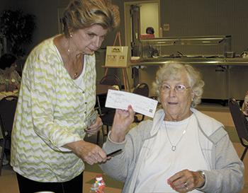Senior Center Bingo Winner