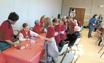 Boling Springs Elementary students entertain seniors