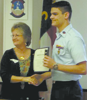 Anthony Vagnozzi is Outstanding Civil Air Patrol Cadet of the Year