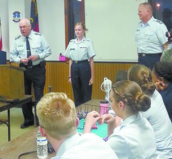 Civil Air Patrol Cadet Chloe Patterson receives Wright Brothers Award