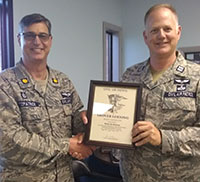 Capt. Randy Patterson receives honor