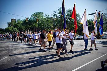 Post 82 participates in Commander's Walk