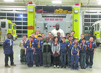 Cub Scouts visit Number Three Fire Department