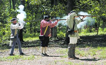 Backcountry Militia Encampment held at Kings Mountain National Military Park