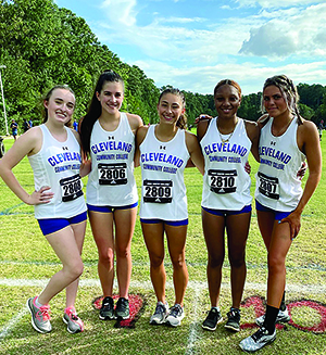Cleveland Community College's Cross Country team competes at the Adidas XC Challenge