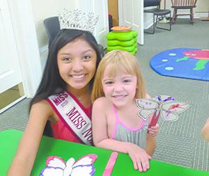 Miss NC Junior Teen visits Mauney Memorial Library