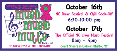 Mush, Music and Mutts is Oct 17