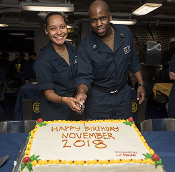 Seaman Walker celebrates birthday during deployment