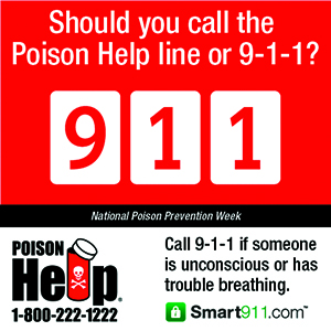 Poison Prevention Week is March 15 - 21, 2017