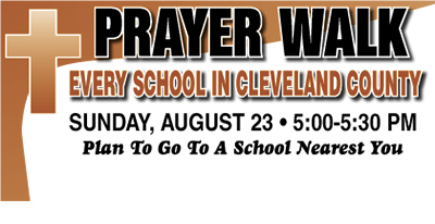 PRAYER WALK IS SUNDAY AUGUST 23, 2015