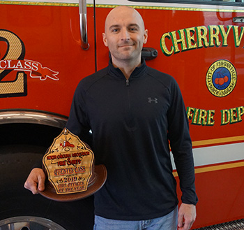 Quentin Cash wins 2019 NC Fire Officer of the Year award