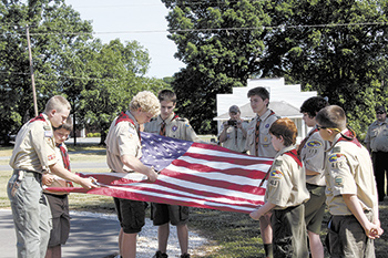 Belwood Days Scout Troop 413 Retires Memorial Flag