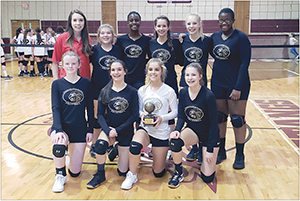 Pinnacle Classical Academy JV Girls Volleyball Team won the Western Piedmont Athletic Conference Championship