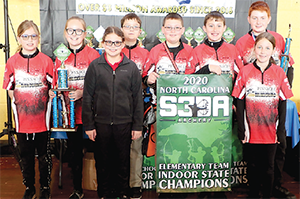 Pinnacle Classical Academy Elementary Archery Team Indoor State Championship Winners.